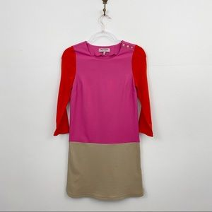 Juicy Couture Pink Colorblock Snap Accent Dress